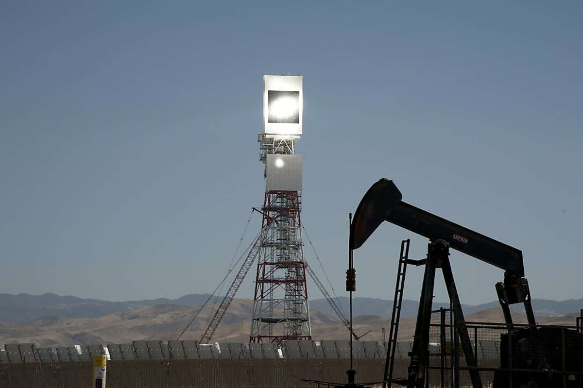 Chevron with BrightSource Energy built a 29 megawatt solar thermal power plant to extract crude in a Southern California field.