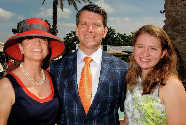 From left: Diane, David and Jackie Modesett at the River Oaks Country Club's Tennis Tournament Luncheon and Fashion Show Wednesday April 11,2012. (Dave Rossman/ For the Chronicle) Photo: Dave Rossman / © 2012 Dave Rossman