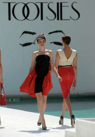 Models walk the runway at the River Oaks Country Club's Tennis Tournament Luncheon and Fashion Show Wednesday April 11,2012. (Dave Rossman/ For the Chronicle) Photo: Dave Rossman / © 2012 Dave Rossman