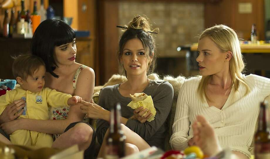 "Krysten Ritter, left, Rachel Bilson, and Kate Bosworth appear in a scene from, ""L!fe Happens."" Photo: Courtesy Of PMK BNC"
