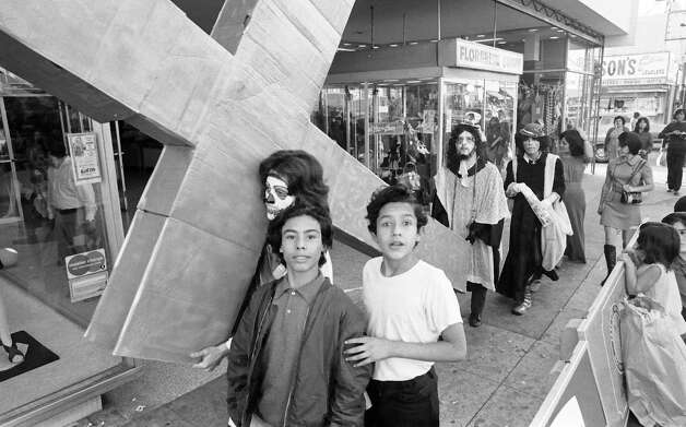 "Seymour Rosen, ""Asco?s Stations of the Cross,"" 1971, gelatin silver print. (SPACES ? Saving and Preserving Arts and Cultural Environments)"