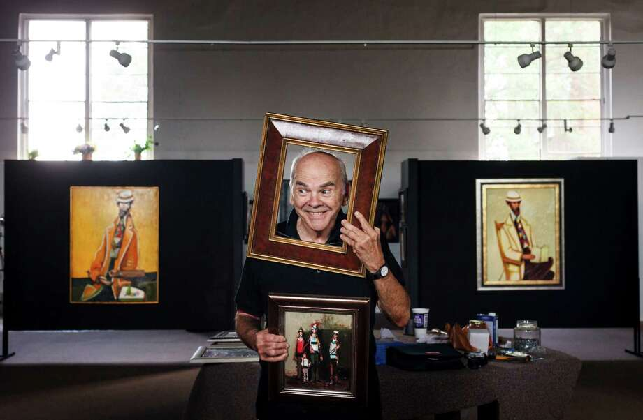 """I've always wanted to do this ... I think every artist is concerned about what's going to happen to his work when he's gone,"" David Adickes said of the old Huntsville High School. Photo: Michael Paulsen / © 2012 Houston Chronicle"