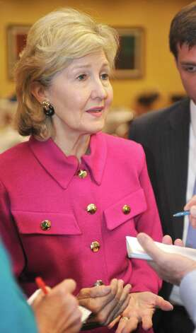 Sen. Kay Bailey Hutchison said she would be supporting Republican candidates, including Ted Cruz. Photo: Dave Ryan