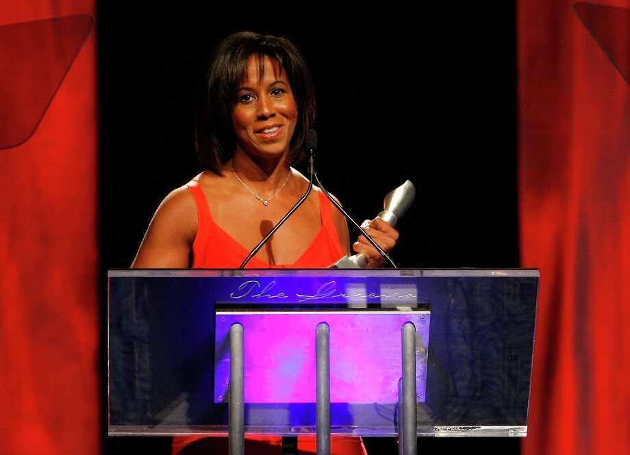 NEW YORK - JUNE 03:  Journalist Lisa Salters speaks on stage during the 34th Annual AWRT Gracie Awards Gala at The New York Marriott Marquis on June 3, 2009 in New York City.  (Photo by Jemal Countess/Getty Images for AWRT) *** Local Caption *** Lisa Salters Photo: Jemal Countess / 2009 Getty Images