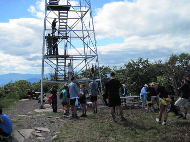 Photo courtesy of Catskill Fire Tower Project. Overlook Mountain gets thousands of visitors every summer.