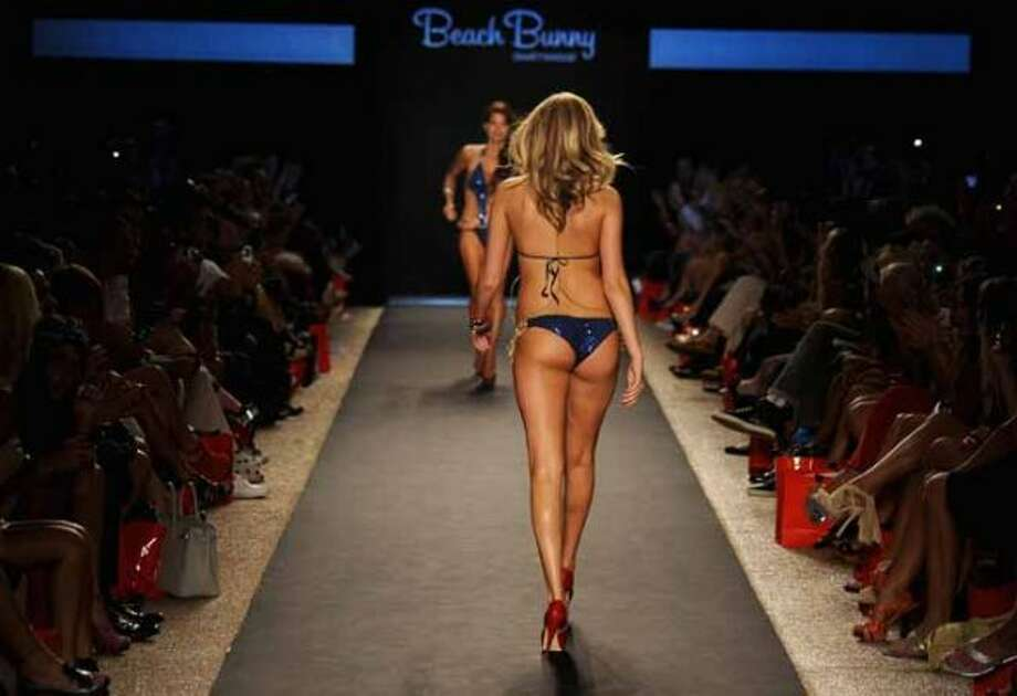 MIAMI BEACH, FL - JULY 15:  Kate Upton walks the runway at the Beach Bunny Swimwear show during Merecdes-Benz Fashion Week Swim 2012 at The Raleigh on July 15, 2011 in Miami Beach, Florida.  (Photo by Frazer Harrison/Getty Images for Beach Bunny) (Frazer Harrison / Getty Images for Beach Bunny)