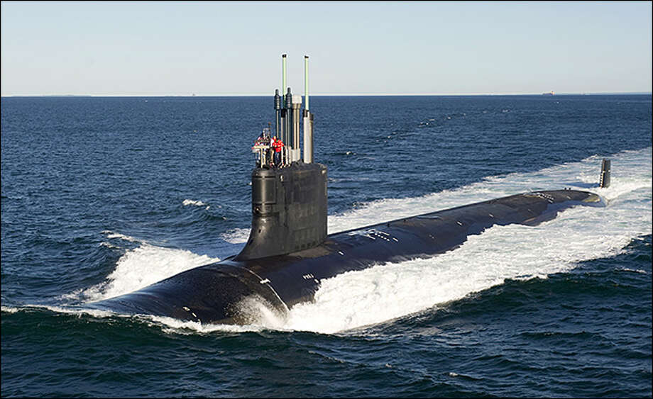 This ia a Virginia class submarine. The USS Washington, which is being built, will be the 14th submarine in the class.
