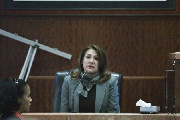 Yvonne Stern testifies during the trial of Damian Ricardo Flores, 28, alleged to have been the last shooter on Yvonne Stern's life.  (Eric Kayne / For the Houston Chronicle)