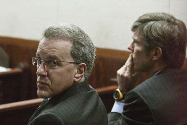 Jeffrey Stern, left, is present during the trial of Damian Ricardo Flores, 28, alleged to have been the last shooter on Yvonne Stern's life.  (Eric Kayne / For the Houston Chronicle)