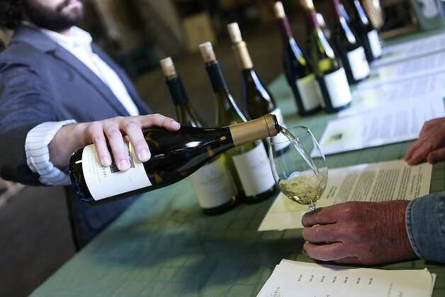 Wine being served at Macrostie tasting room. In Sonoma, Calif. on Thursday, April 5, 2012. Photo: Jill Schneider, The Chronicle