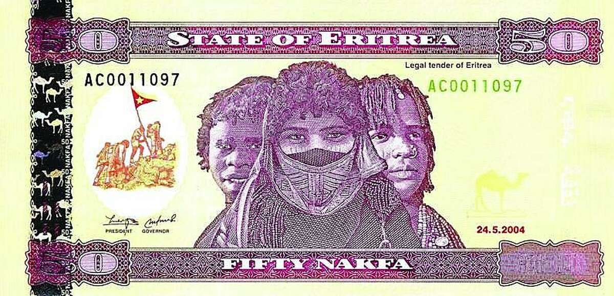 The new Eritrean 50-nakfa note.