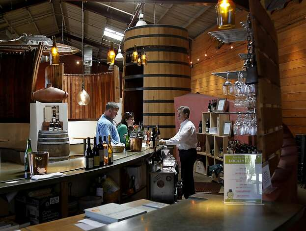 The Bonny Doon Vineyard tasting room is big and right next to their restaurant. Wine tasting in the Santa Cruz area can be found away from the actual vineyards at such places as Bonny Doon, Storrs Winery, Vine Hill and MJA Vineyards. Photo: Brant Ward, The Chronicle