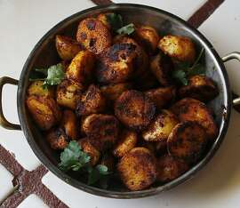 Spicy Potatoes from Jacqueline Higuera McMahan for the South to North column, 4/15/2012