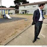 "NEWSOM_264_fl.jpg; Mayor Gavin Newsom checks out the poor conditions of the Sunnyvale projects during his kicks off a new program called ""Project Connect,'' which will send a 100-member team out to the city's four biggest housing developments. the workers will go door to door asking folks what they need -- job training, child care, substance abuse treatment, etc.  6/10/04  San Francisco Chronicle Frederic Larson Ran on: 06-11-2004  The Harris family in Sunnydale answers questions from Diane Harper (left) and Hugo Araica of the Project Connect program. Ran on: 06-11-2004  The Harris family in the Sunnydale public housing project talks with Diane Harper (left) and Hugo Araica of Project Connect."