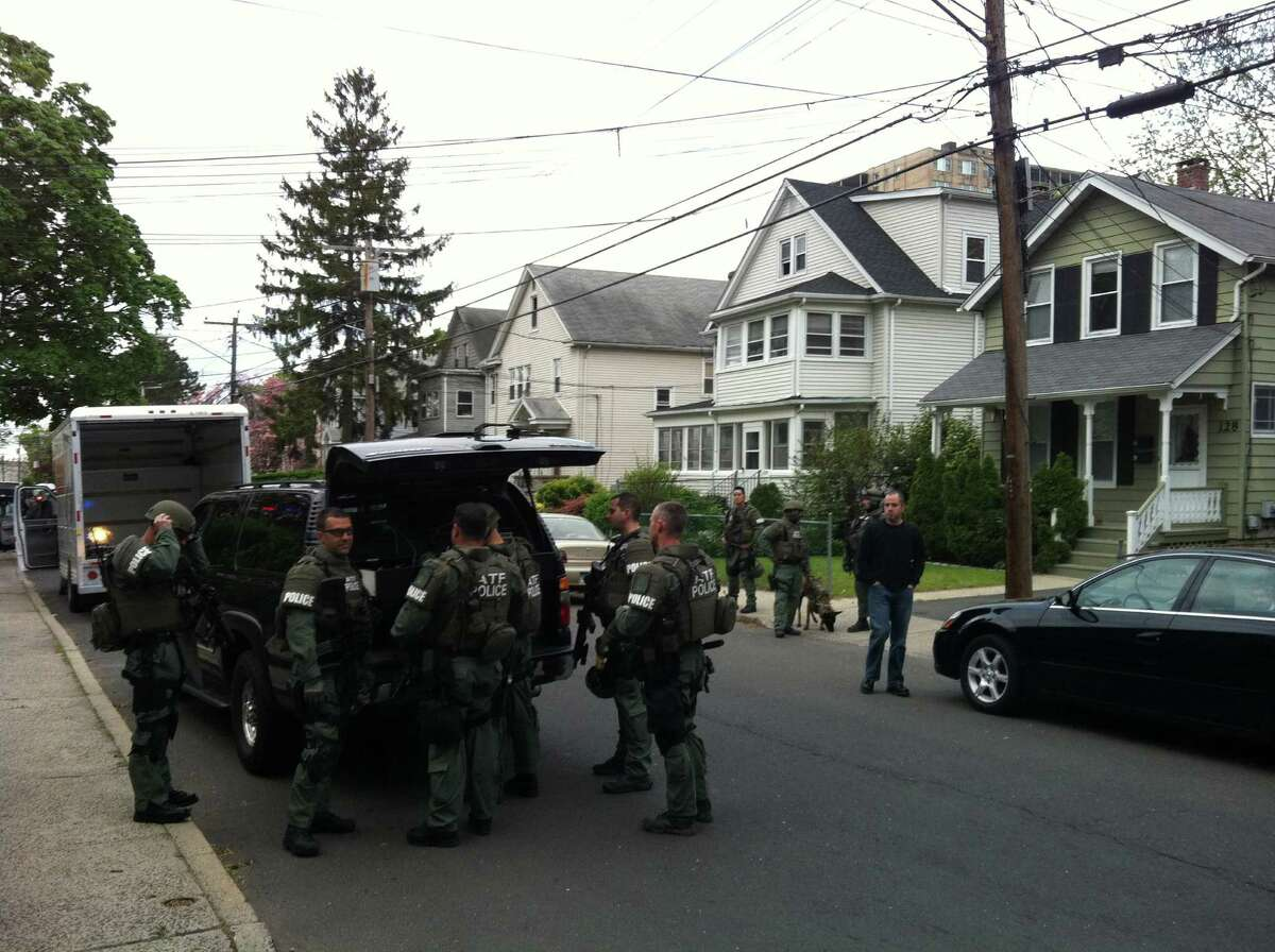 Federal agents raided a house early Thursday morning in Stamford.