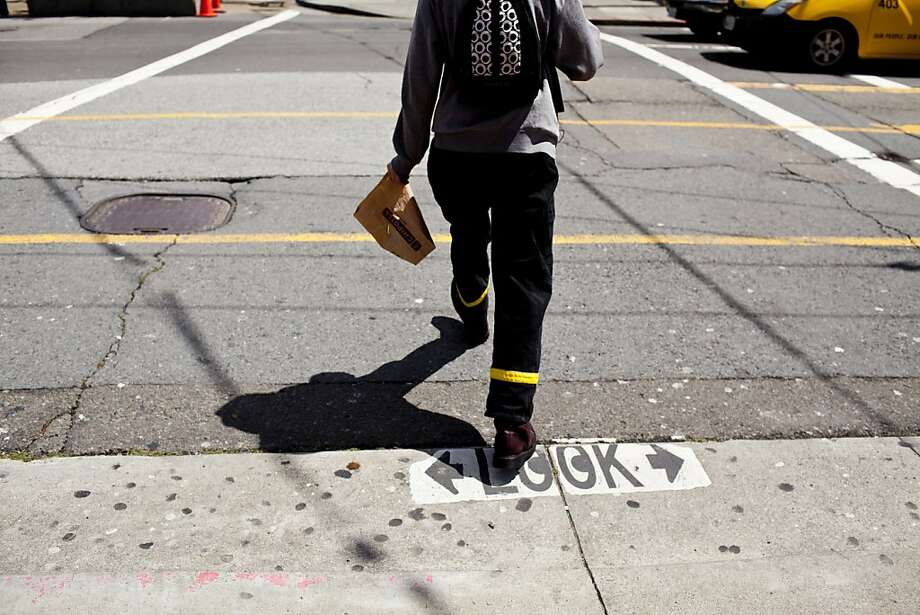 The crosswalk at the intersection of Castro and Market Streets where an elderly man was stuck and killed by a bicyclist on March 29 in San Francisco, Calif., Friday, April 13, 2012. Photo: Jason Henry, Special To The Chronicle