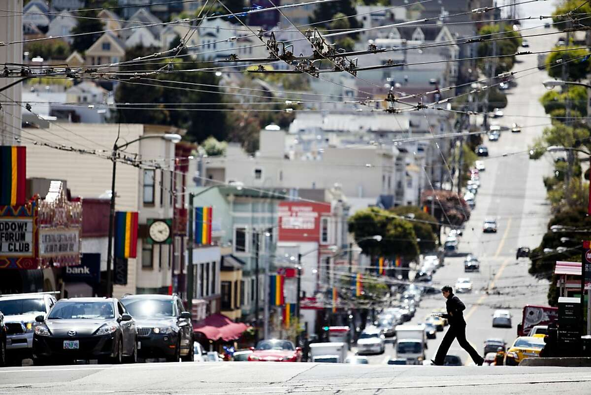 The intersection of Castro and Market Streets where an elderly man was stuck and killed by a bicyclist on March 29 in San Francisco, Calif., Friday, April 13, 2012. Jason Henry/Special to The Chronicle