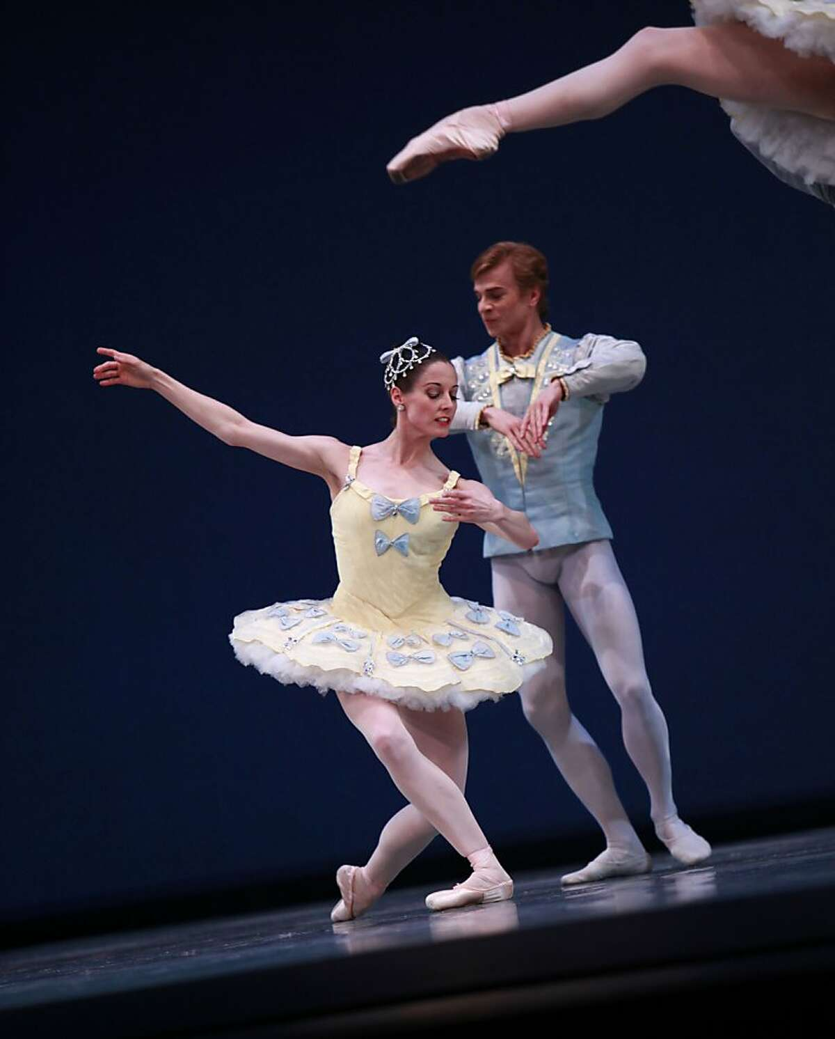 Gennadi Nedvigin and Dana Genshaft perform at the dress rehearsal of Program 7 for the San Francisco Ballet at the War Memorial Opera House in San Francisco, California on Thursday, April 12, 2012.