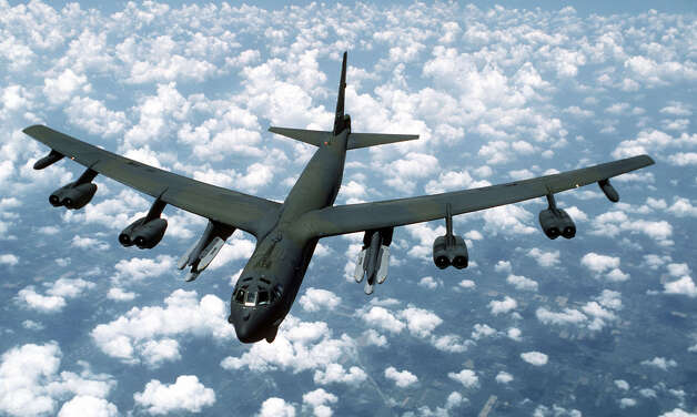 A B-52 armed with AGM-86B Air-Launched Cruise Missiles is seen in this undated file photo. Photo: USAF, U.S. Air Force / Getty Images North America