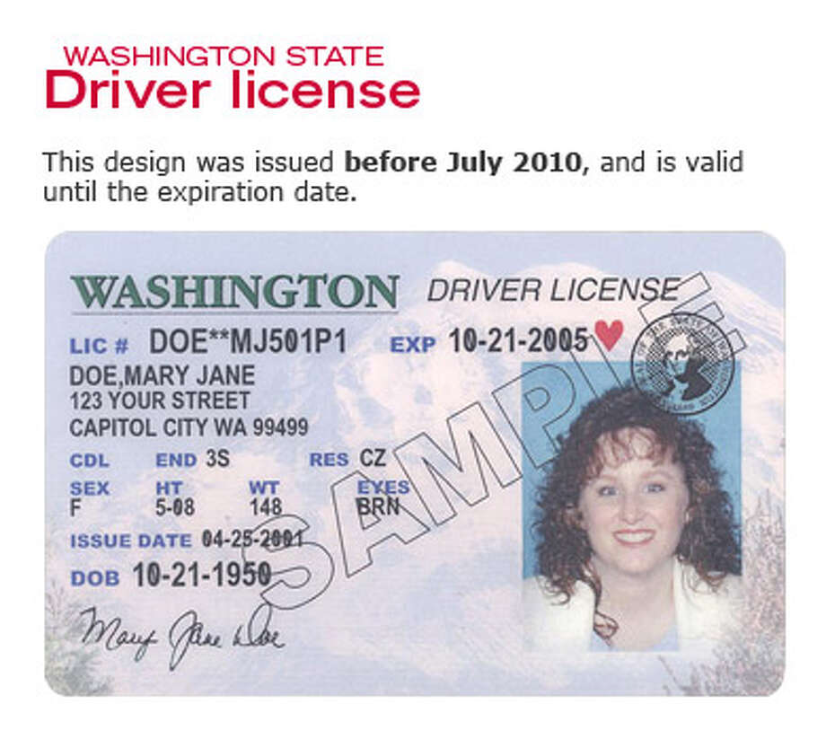 Photo: Washington State Department Of Licensing