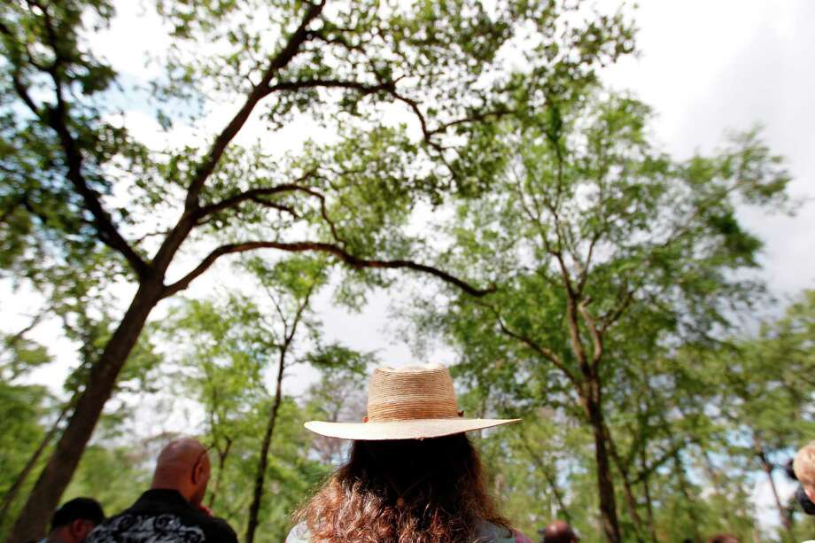 """""""I am an excited citizen,"""" says Katy Emde, member of the Memorial Park Conservancy, during the introduction of the RE-Plant Memorial Forestry Plan on Friday. The project is scheduled to begin on Monday. Photo: Mayra Beltran / © 2012 Houston Chronicle"""