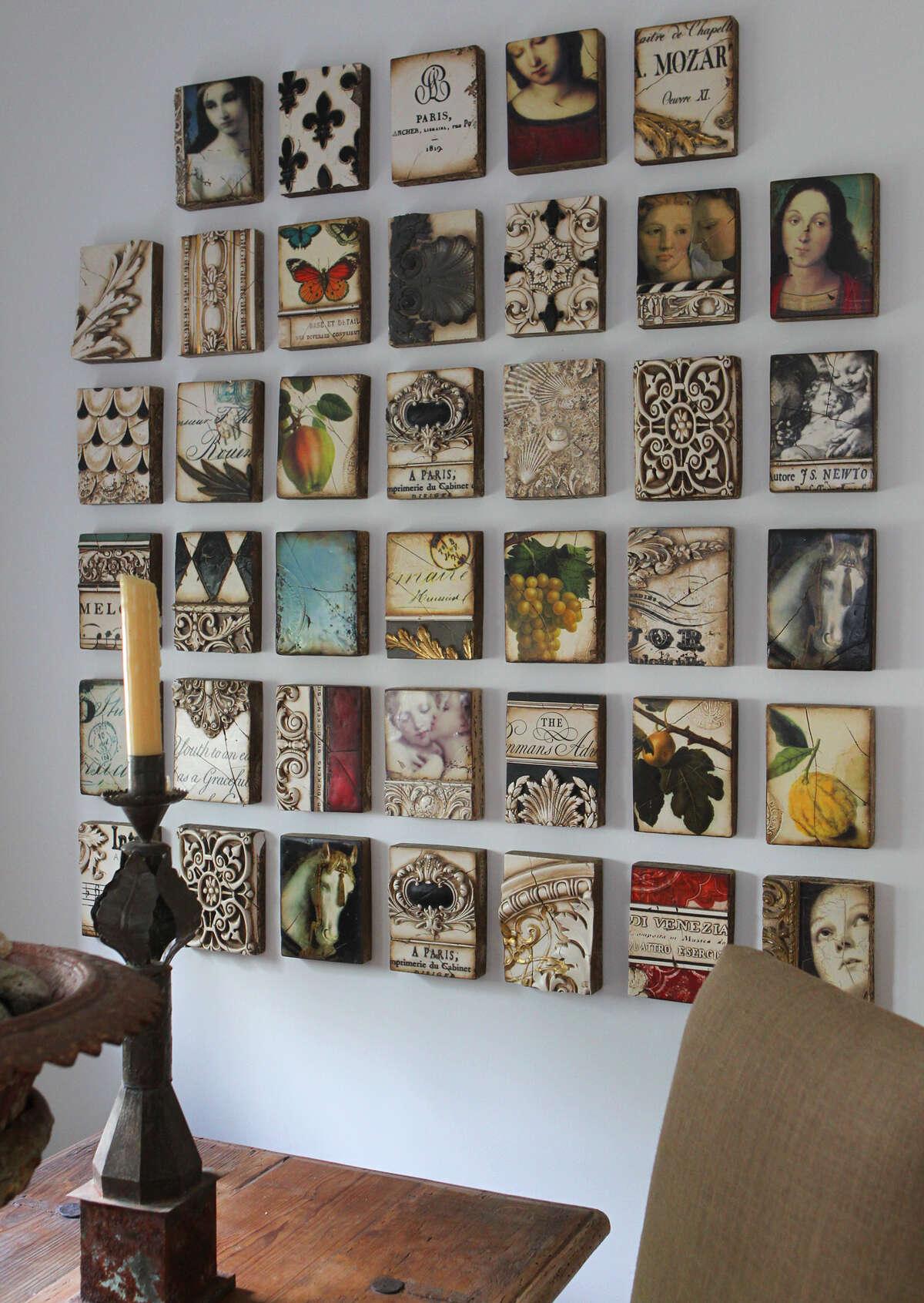 Art work adds interest to a kitchen wall in the Monticello home of Freddie Delgado. (Wednesday April 11, 2012) John Davenport/San Antonio Express-News
