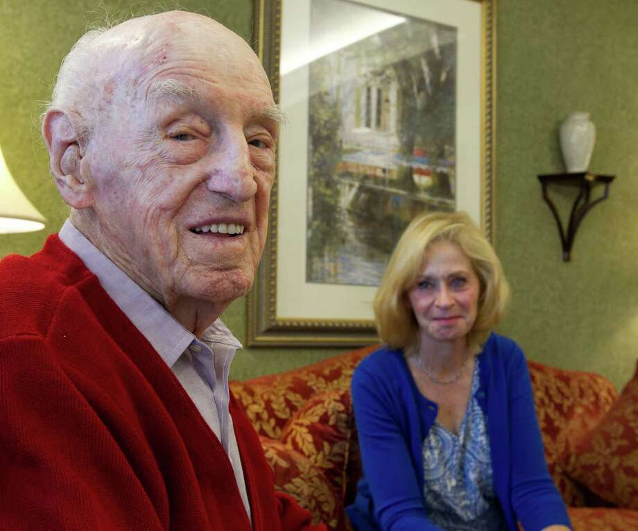 George McGrath, 96, and his daughter Maryanne Monroe tried to obtain an honorary degree for McGrath, who says his only regret in life is not earning a college degree. The pair failed, finding schools have tough criteria. Photo: James Nielsen / © 2012 Houston Chronicle