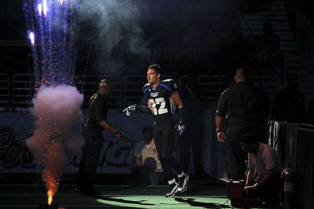 Robert Quiroga takes the field as the San antonio Talons host the New Orleans Voodoo at the Alamodome on  April 13, 2012.  Tom Reel/ San Antoniopress-News Photo: TOM REEL, Express-News / San Antonio Express-News