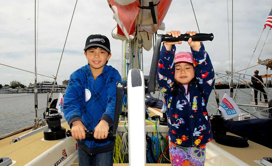 Images from the Strictly Sail Pacific boat show, which run through Sunday at Jack London Square, Oakland. Photo: Colleen Kona Kina, Sail America