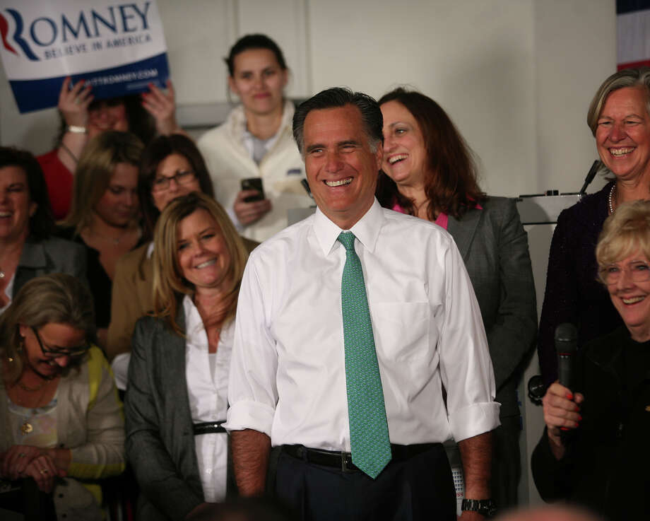 Republican presidential candidate Mitt Romney smiles as he is introduced during a campaign stop at AlphaGraphics at 915 Main Street in downtown Hartford on Wednesday, April 11, 2012. Photo: Brian A. Pounds / Connecticut Post