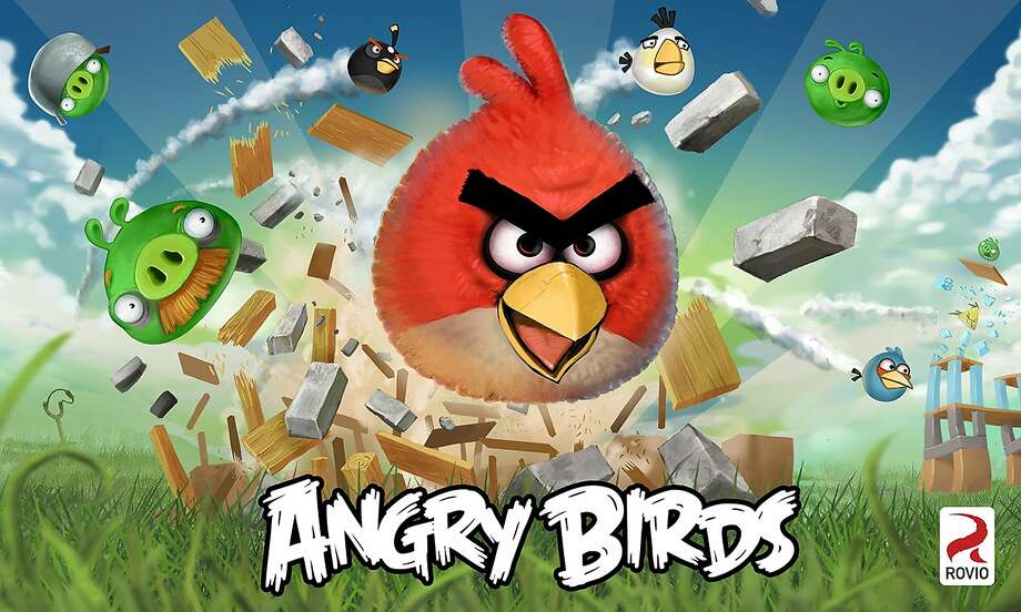 This undated image released by Rovio shows a poster of the company's Angry Birds app. The exceptionally popular Angry Birds smart phone app has grown into a full-blooded pop cultural sensation, addicting mobile users at a rate nearly as impressive as the body count its animated slingshot birds are racking up against their swine enemy. (AP Photo/Rovio) NO SALES Photo: Rovio, Associated Press