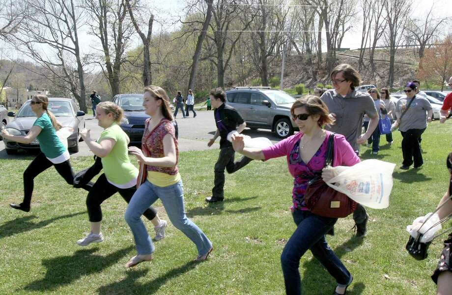 Were you seen at the grown-up egg hunt on Saturday, April 14, 2012 in Troy's Prospect Park?? Photo: Joe Putrock/Special To The Times Union