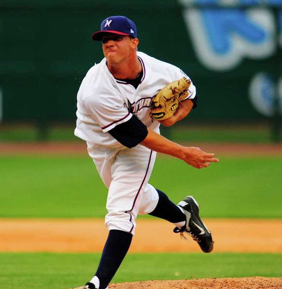 Kendal Volz, now with Northwest Arkansas, learned he is more effective throwing shorter stints out of the bullpen. Photo: Courtesy Photo