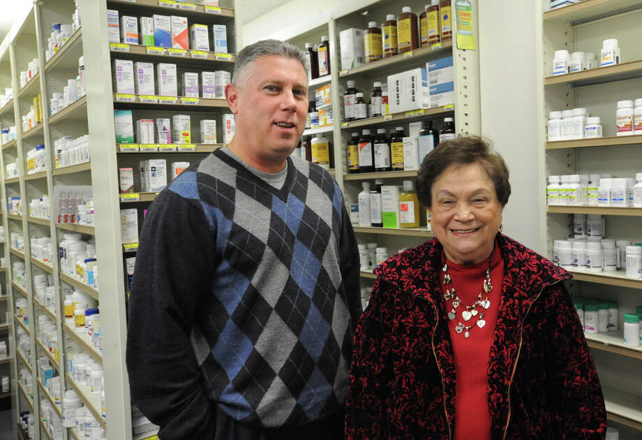 "Cohoes mayor John McDonald and his mother Barbara McDonald stand in his family-run  ""Marras Pharmacy"" Friday, Jan. 20, 2012 in Cohoes, N.Y. (Lori Van Buren / Times Union) Photo: Lori Van Buren"