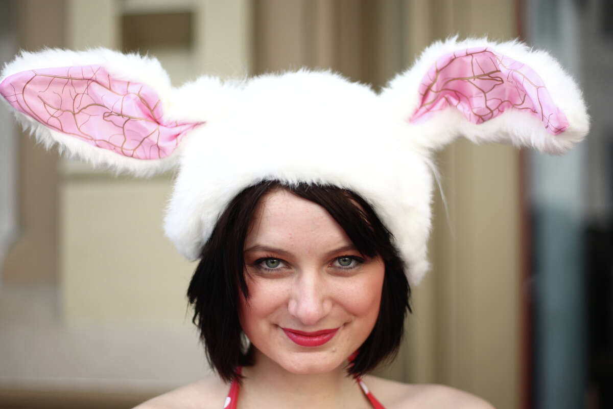Tamara Rose sports bunny ears at Club Contour during Bunnarchy, a bar hop for revelers dressed as bunnies, on Saturday, April 14, 2012. The group of boozing bunnies spent about 90 minutes at each bar, beginning at 88 Keys in Pioneer Square.