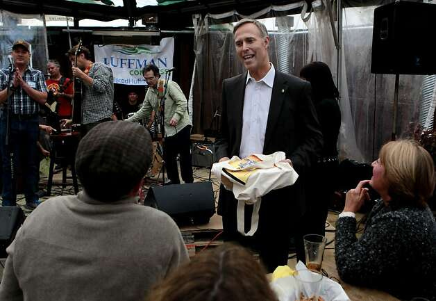 Assemblyman Jared Huffman greets supporters as he holds a fundraiser for his U.S.Congressional campaign on Tuesday March 27, 2012, in Petaluma, Ca. Assemblyman Huffman is running for the open 2nd  Congressional district seat that will be vacated by the retiring Lynn Woolsey. Photo: Michael Macor, The Chronicle