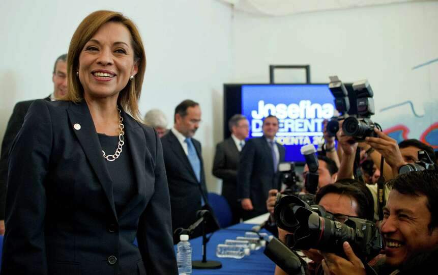 Mexican presidential candidate of the National Action Party, Josefina Vazquez Mota, poses for a pict