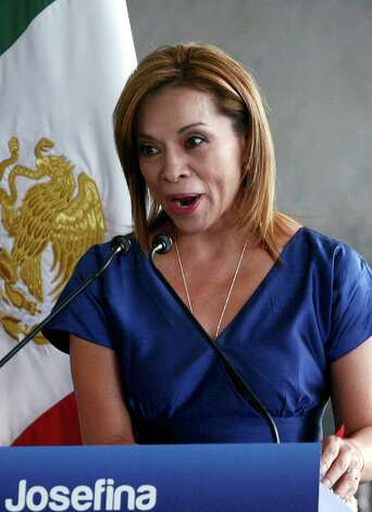 Mexican presidential candidate for the National Action Party (PAN), Josefina Vazquez Mota, answers questions during a meeting with supporters, in Guadalajara, Mexico on April 15, 2012. Mexico will hold presidential elections next July 1, 2012. AFP PHOTO/Hector Guerrero Photo: HECTOR GUERRERO, Getty Images / 2012 AFP