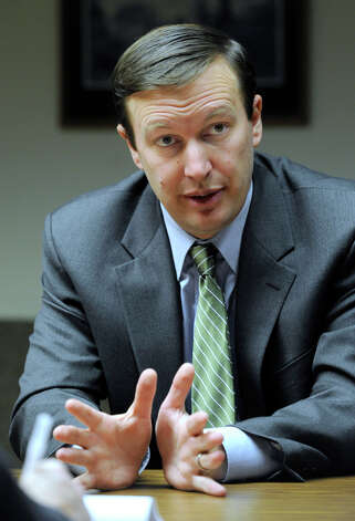 Congressman Chris Murphy meets with The News-Times editorial board Turesday, April 10, 2012. Photo: Carol Kaliff / The News-Times