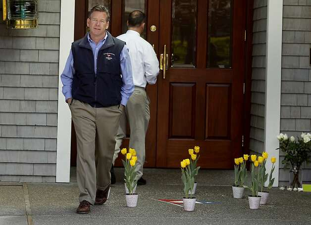 Yacht club director Ed Lynch walked past the entrance to the club Sunday April 15, 2012.  Members of the San Francisco Yacht Club were in mourning Sunday after the Coast Guard confirmed that one sailor was killed and four were missing after huge waves toppled the yacht Low Speed Chase at South Farallon Island during a race. Photo: Brant Ward, The Chronicle