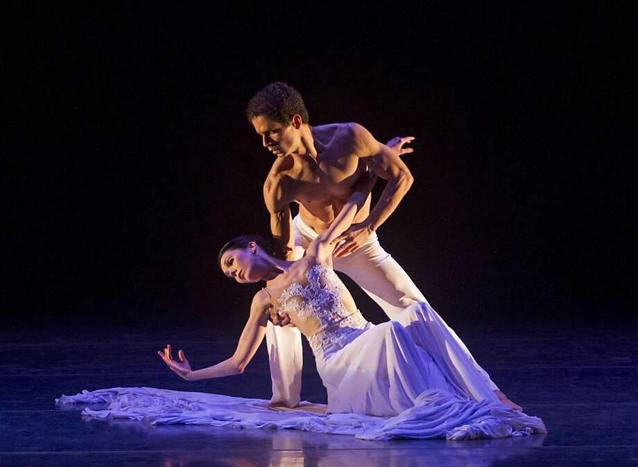 "Maria Jacobs-Yu and Ramon Moreno in San Jose Ballet's,"" Splendid Isolation III."" Photo: Robert Shomler, San Jose Ballet"