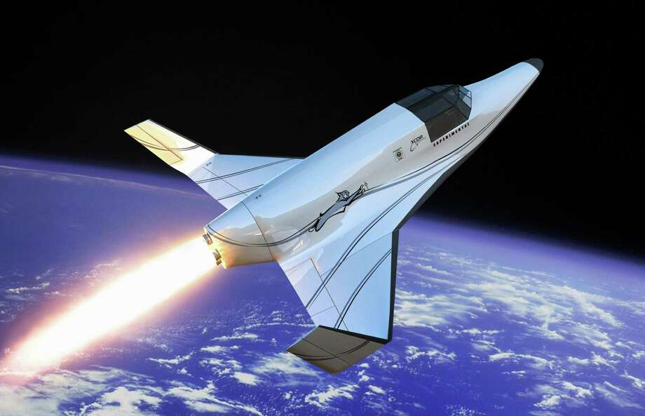 "A 2008 illustration, released by XCOR, shows the Lynx, a two-seat suborbital rocket ship. An official says ""it won't just be about space tourism"" if Ellington Field were to become a spaceport. Photo: Mike Massee, AP / XCOR"