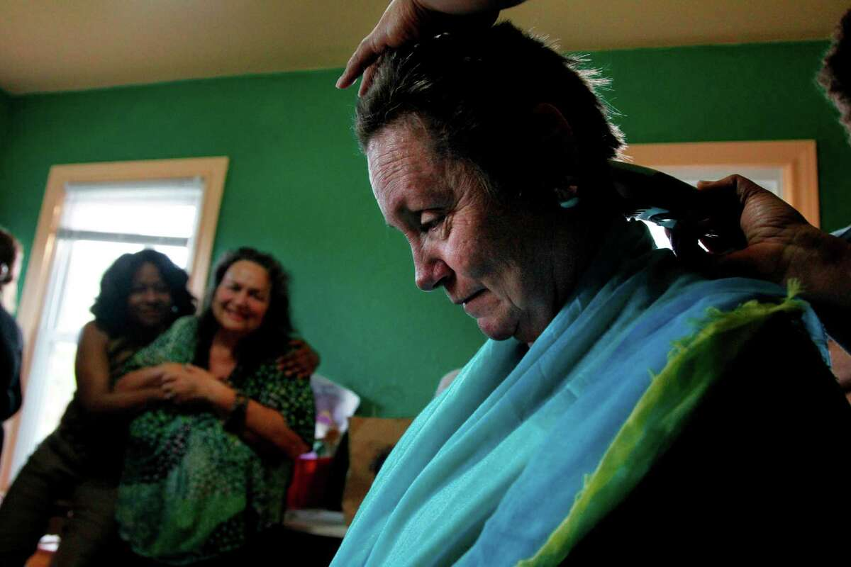 Krenie Stowe seeks to take away some of the power from cancer by cutting her hair rather than losing it during chemotherapy.