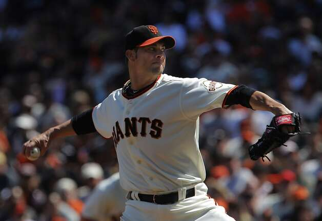 Ryan Vogelson pitches for the Giants in his first game of the season after coming off the disabled list. The San Francisco Giants played the Pittsburgh Pirates at AT&T Park in San Francisco, Calif., on Sunday, April 15, 2012. The Giants lost 1-4. Photo: Carlos Avila Gonzalez, The Chronicle