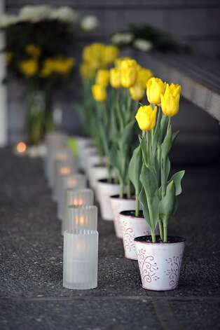 A vigil was held at the San Francisco Yacht Club in Belvedere, CA Sunday April 15th 2012 Photo: Michael Short, Special To The Chronicle