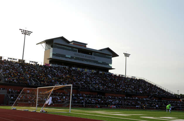 An overflow crowd watches the San Antonio Scorpions' home opener of their inaugural season in the North American Soccer League (NASL) on Sunday, April 15, 2012 at Heroes Stadium. Photo: John Albright, For The Express-News