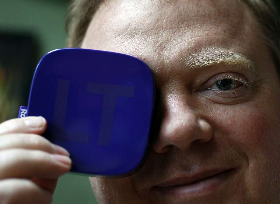 Anthony Wood - the inventor of DVR and his newest streaming device Roku poses for a funny picture in his home in Palo Alto, Calif. on April 13, 2012. Photo: Siana Hristova, The Chronicle