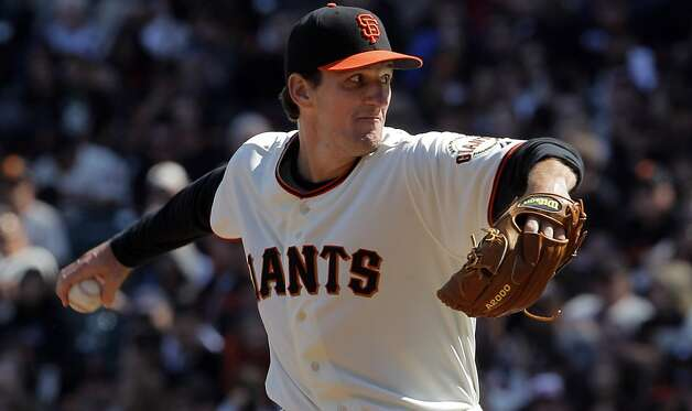 Giants relief pitcher Dan Otero started the eighth inning for the giants. The San Francisco Giants played the Pittsburgh Pirates at AT&T Park in San Francisco, Calif., on Sunday, April 15, 2012. The Giants lost 1-4. Photo: Carlos Avila Gonzalez, The Chronicle