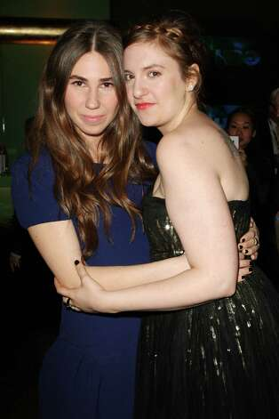 "Co-stars Zosia Mamet and Len Dunham pose at the premiere of the HBO original series ""Girls,"" Wednesday, April 4, 2012 in New York. The comedy premieres April 15, at  10:30p.m. EST on HBO. Photo: AP"