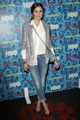 "Olivia Palermo poses at the premiere of the HBO original series ""Girls,"" Wednesday, April 4, 2012 in New York. The comedy premieres April 15, at  10:30p.m. EST on HBO. Photo: AP"